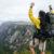 Bjerge rygsæk mand vandre sovepose